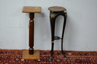 Two jardiniere stands.