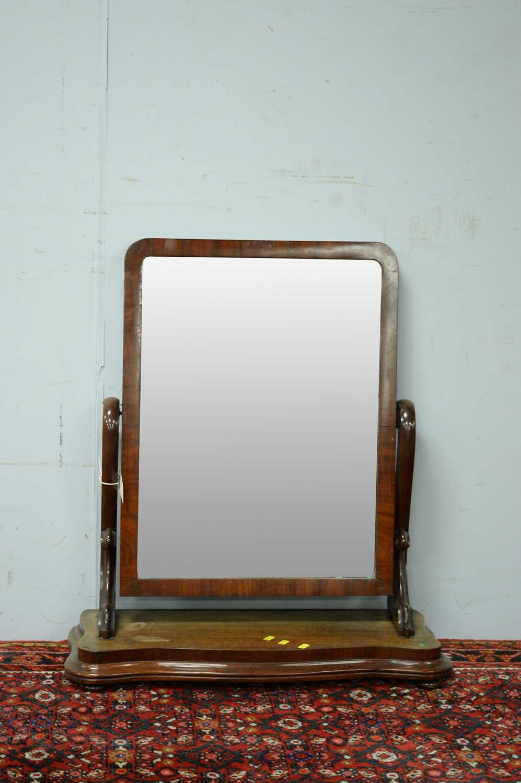 A Victorian mahogany toilet mirror,