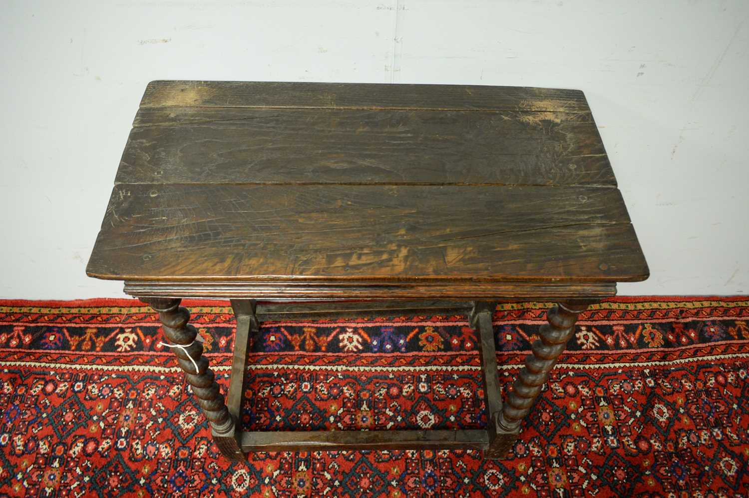 19th C and later oak side table. - Image 5 of 5