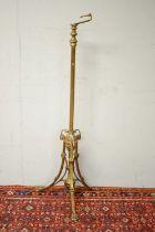 Victorian brass standard lamp.