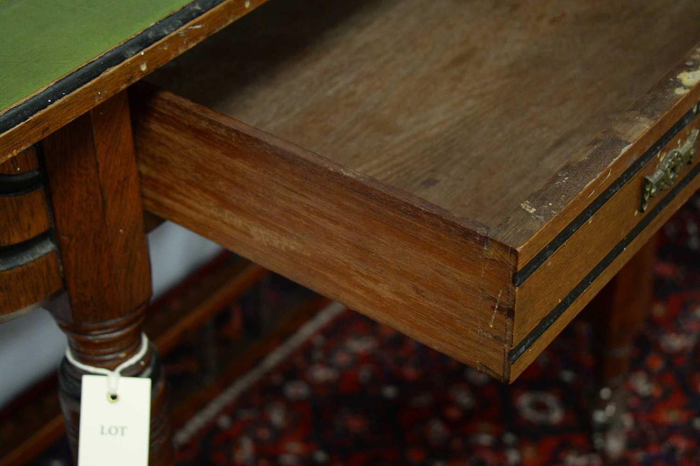 A Victorian walnut writing desk - Image 2 of 3
