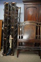 Pair of Edwardian mahogany single beds.