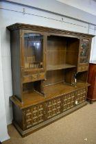 20th C oak side cabinet.