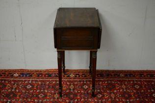 Victorian mahogany side table.