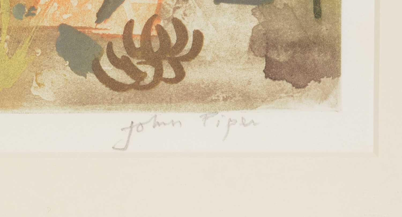 John Piper - etching and aquatint - Image 4 of 5