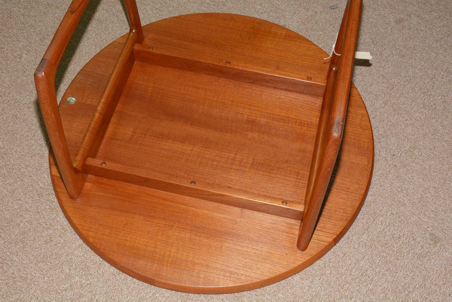 Peter Hvidt and Orla Molgaard-Nielsen for France & Son: a circular teak coffee table. - Image 4 of 10