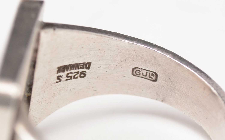 Magnus Steffensen for Georg Jensen, ring with circle design - Image 4 of 4