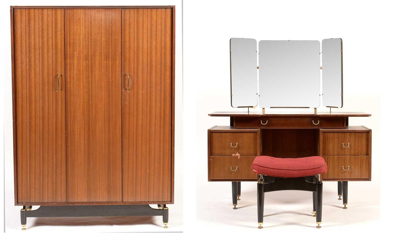 G-Plan Librenza wardrobe; a dressing table and stool.