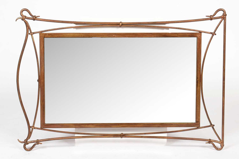 A modern rectangular mirror