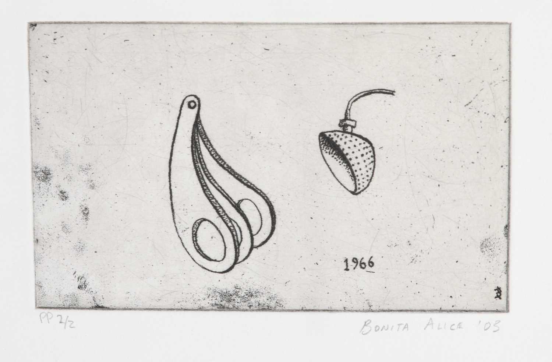 Bonita Alice - three soft-ground etchings - Image 2 of 2