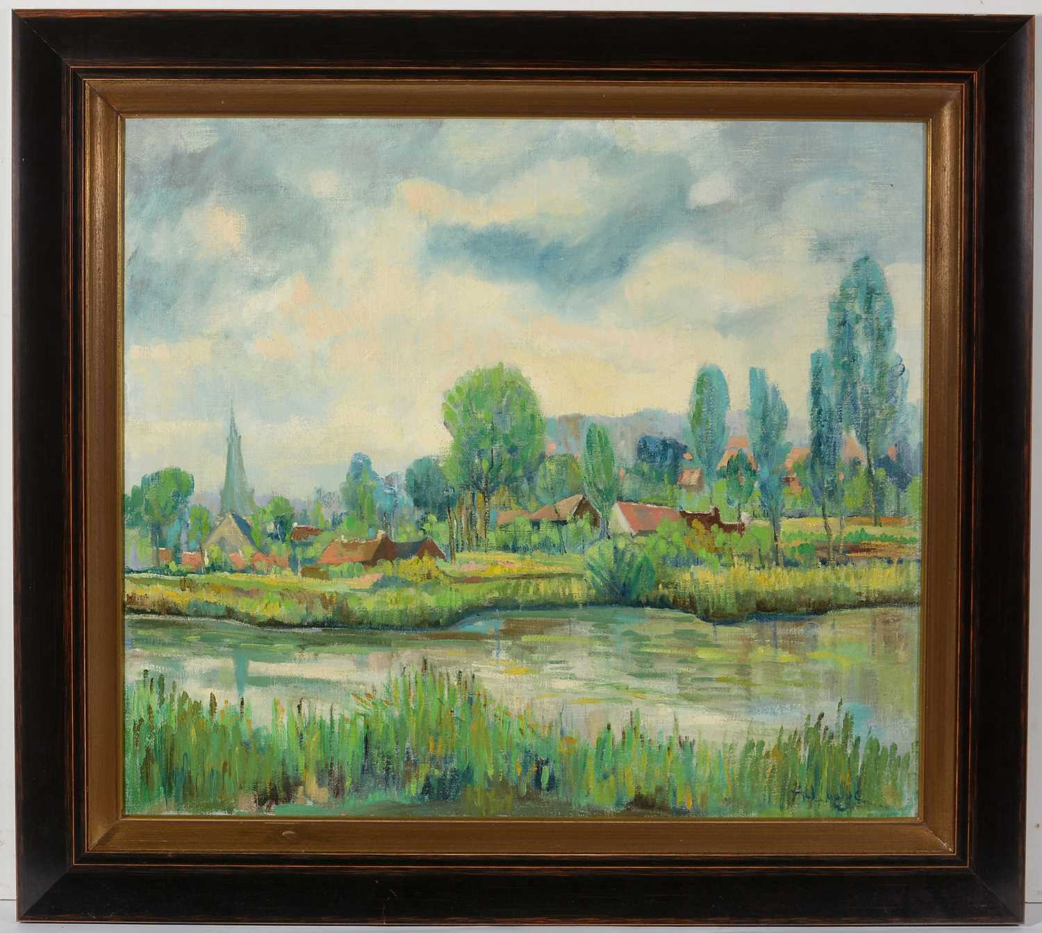 Manner of Achille Lauge - oil on canvas