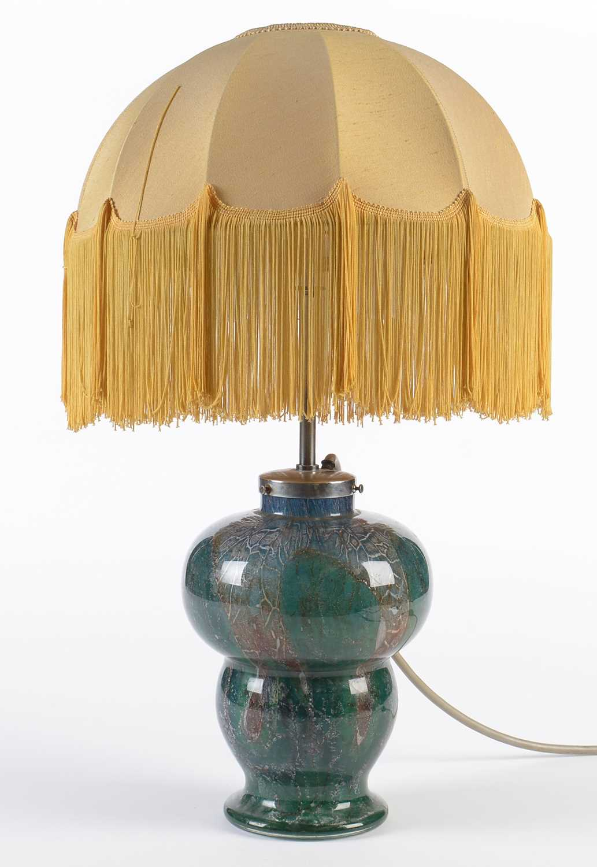 1930's Glass lamp with illuminated base