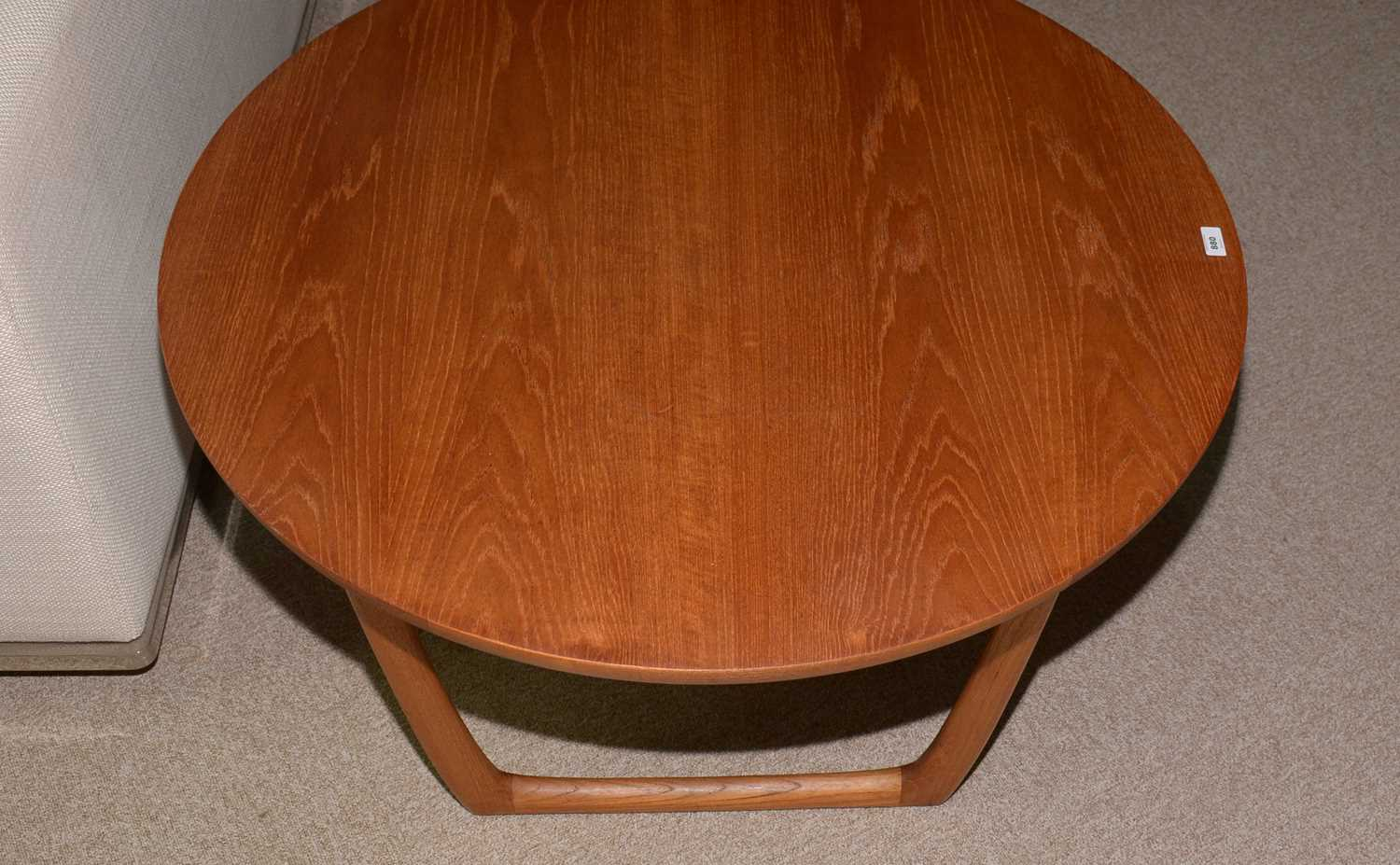 Peter Hvidt and Orla Molgaard-Nielsen for France & Son: a circular teak coffee table. - Image 10 of 10