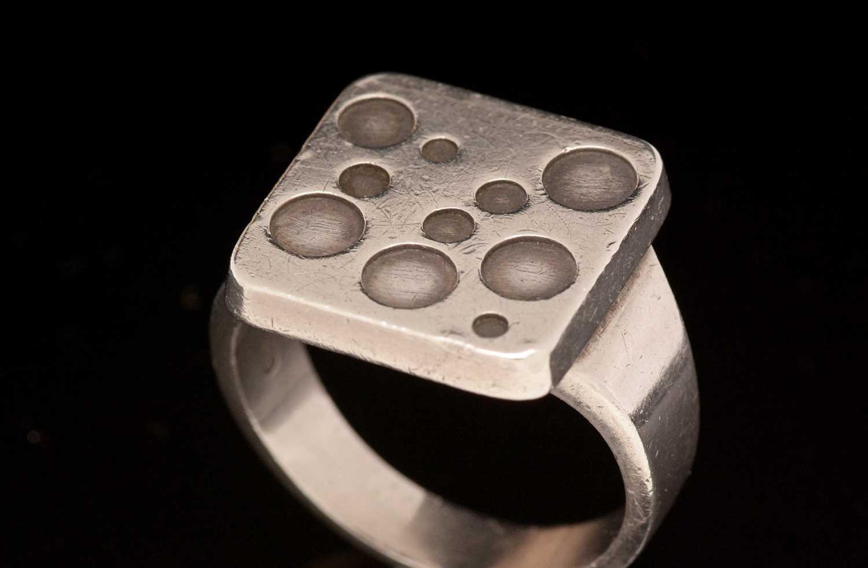 Magnus Steffensen for Georg Jensen, ring with circle design