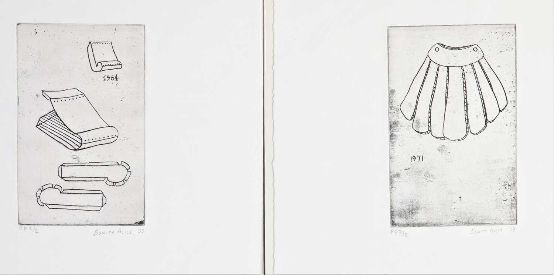 Bonita Alice - three soft-ground etchings