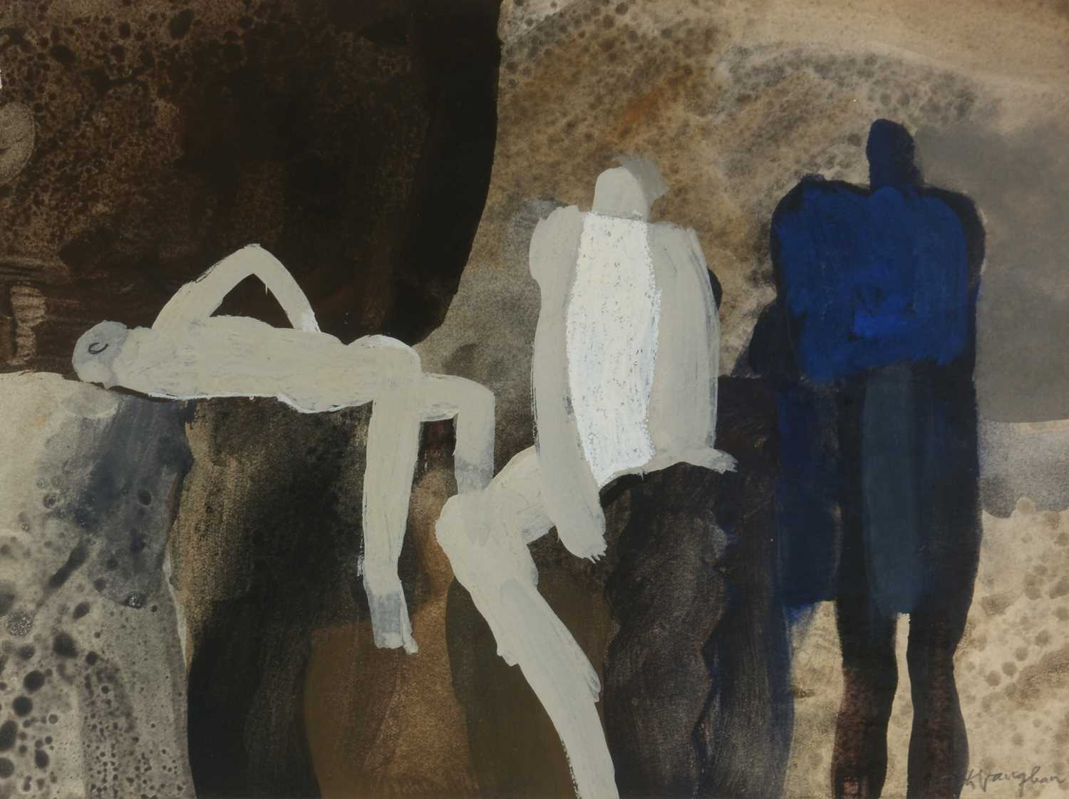 Keith Vaughan - gouache and crayon - Image 3 of 6