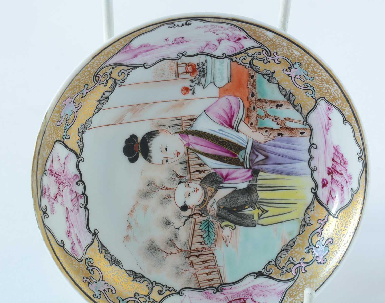 Yongzheng Famille rose saucer. - Image 9 of 15