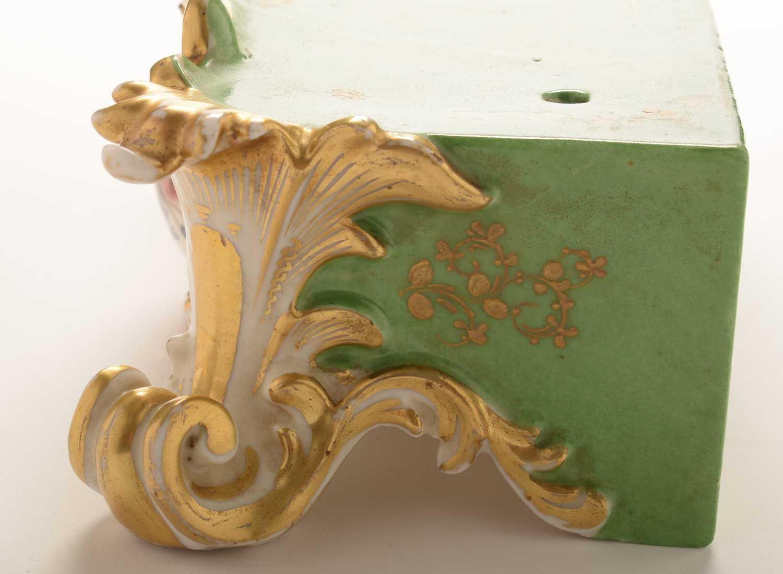 Jacob Petit porcelain mantel clock and stand - Image 16 of 20