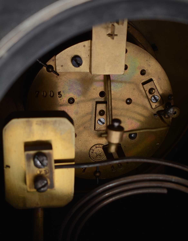 19th Century black slate mantle clock - Image 7 of 8
