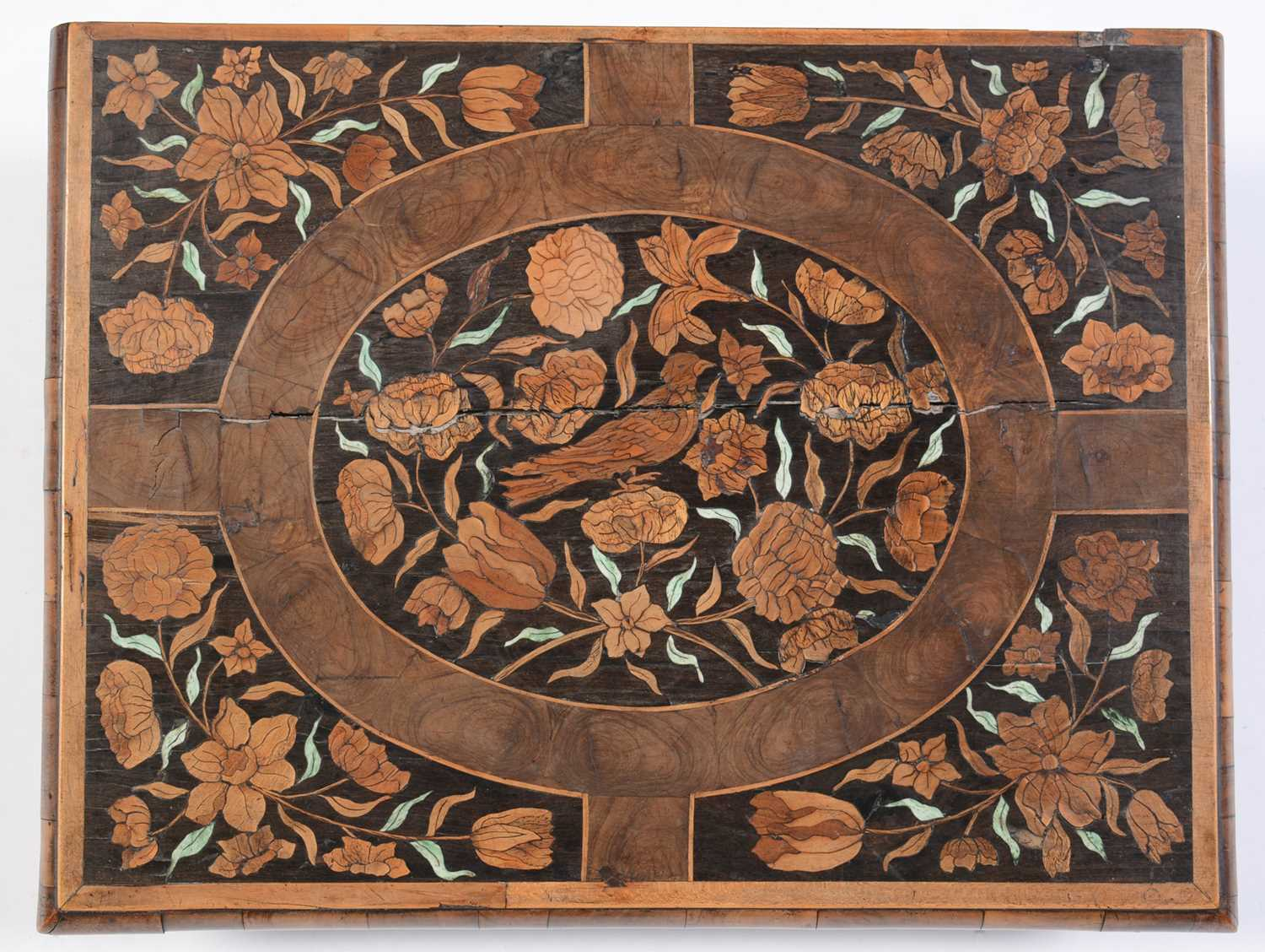 18th Century Dutch marquetry and oyster veneered lace box - Image 2 of 9
