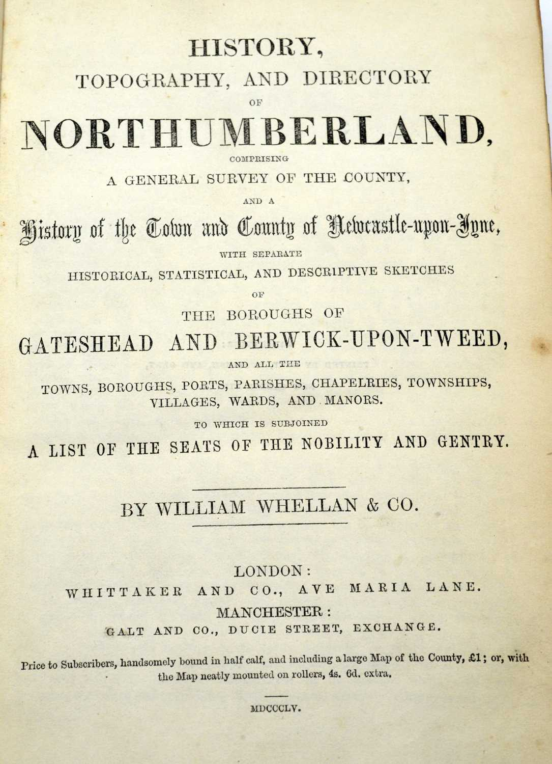 Bates (Cadwallader J.), Popular County Histories: Northumberland, and two other books - Image 2 of 4