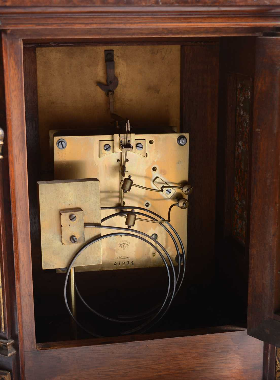 A 19th Century burr rosewood bracket clock. - Image 3 of 3