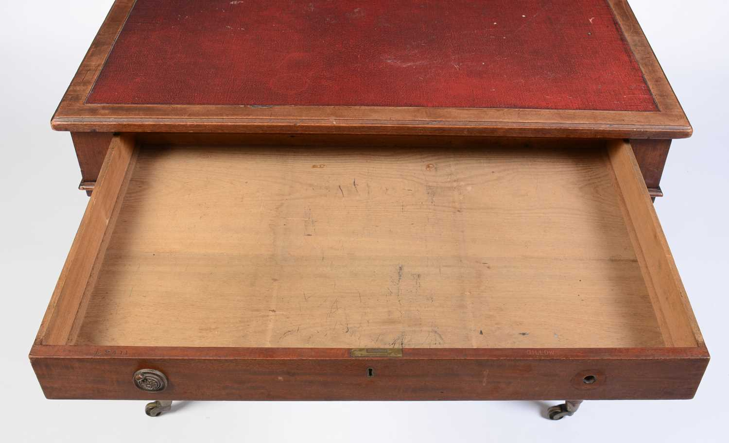William IV mahogany writing desk stamped Gillow - Image 5 of 11