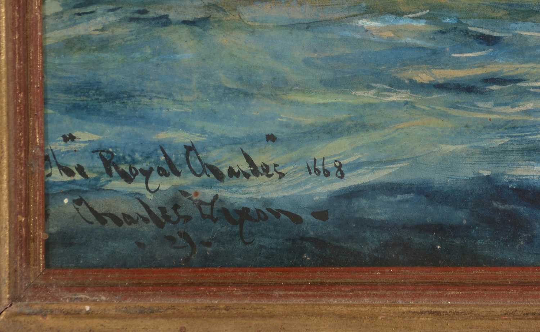 Charles Edward Dixon - watercolour. - Image 2 of 4