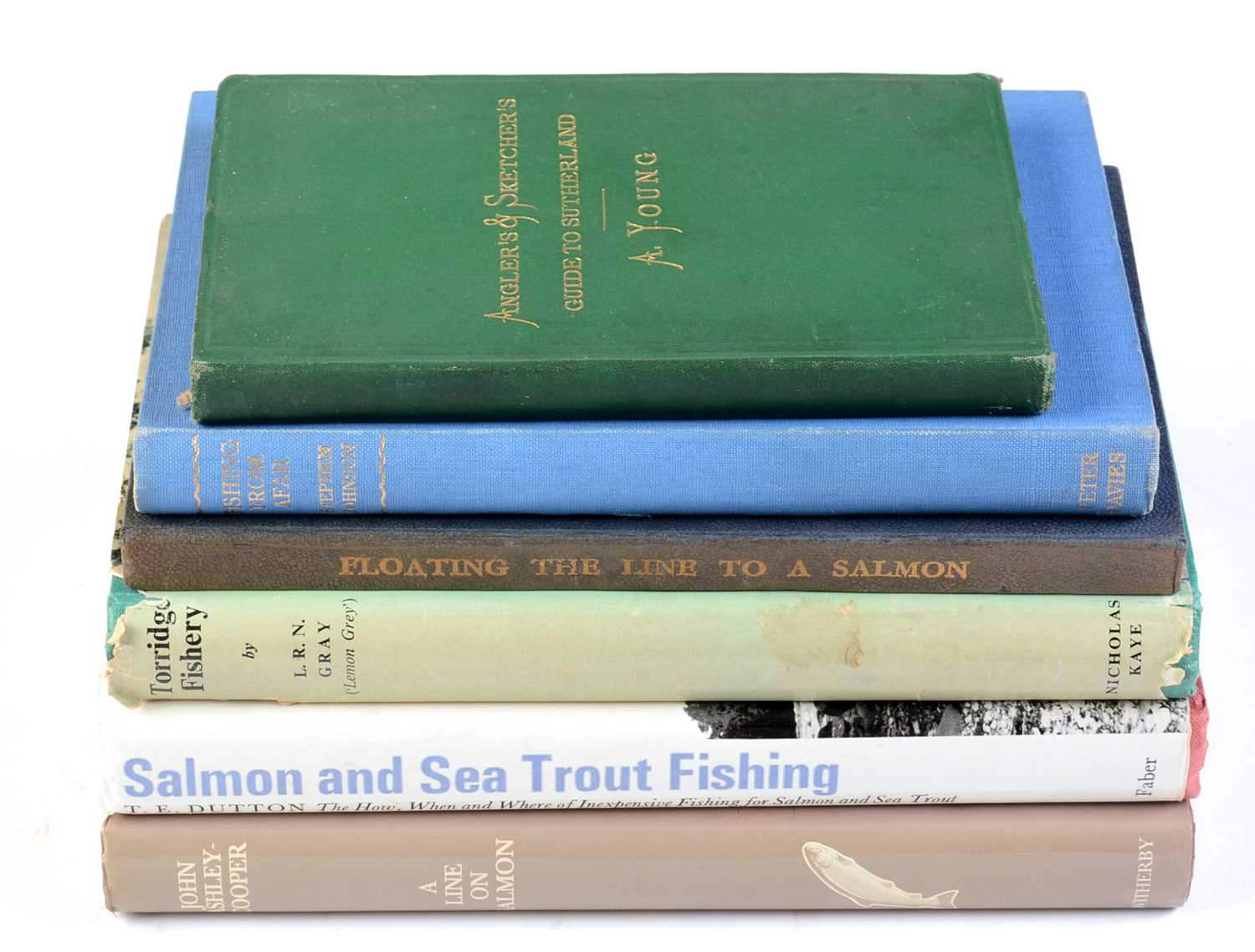 Various books on angling.