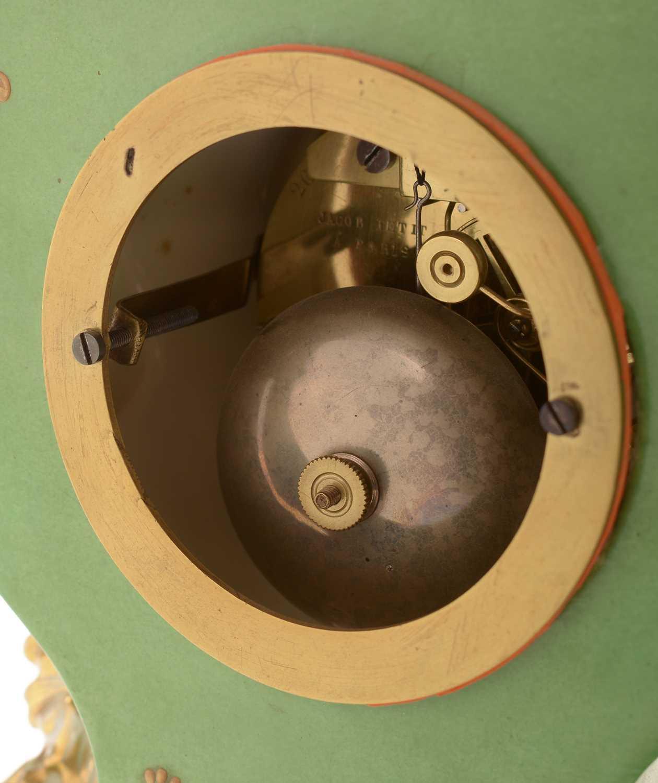 Jacob Petit porcelain mantel clock and stand - Image 6 of 20