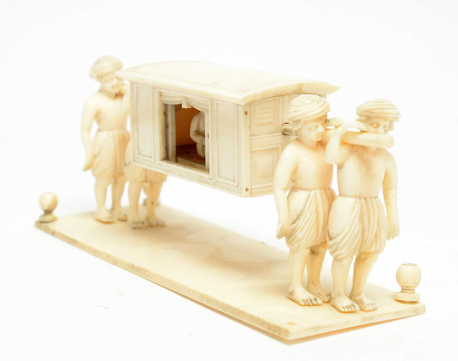Three 19th Century Nepalese ivory processional groups - Image 7 of 7