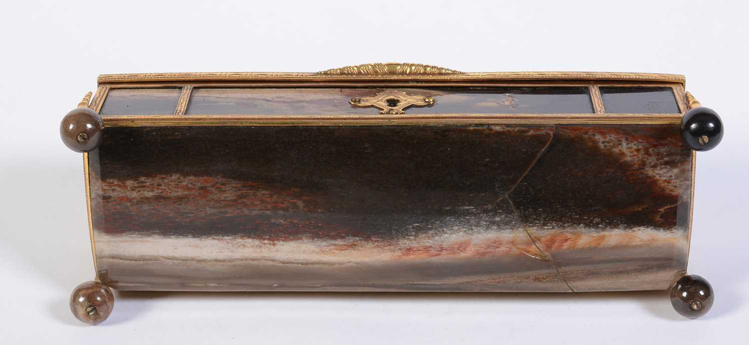 A 19th C marble and giltmetal dome-topped casket - Image 4 of 6