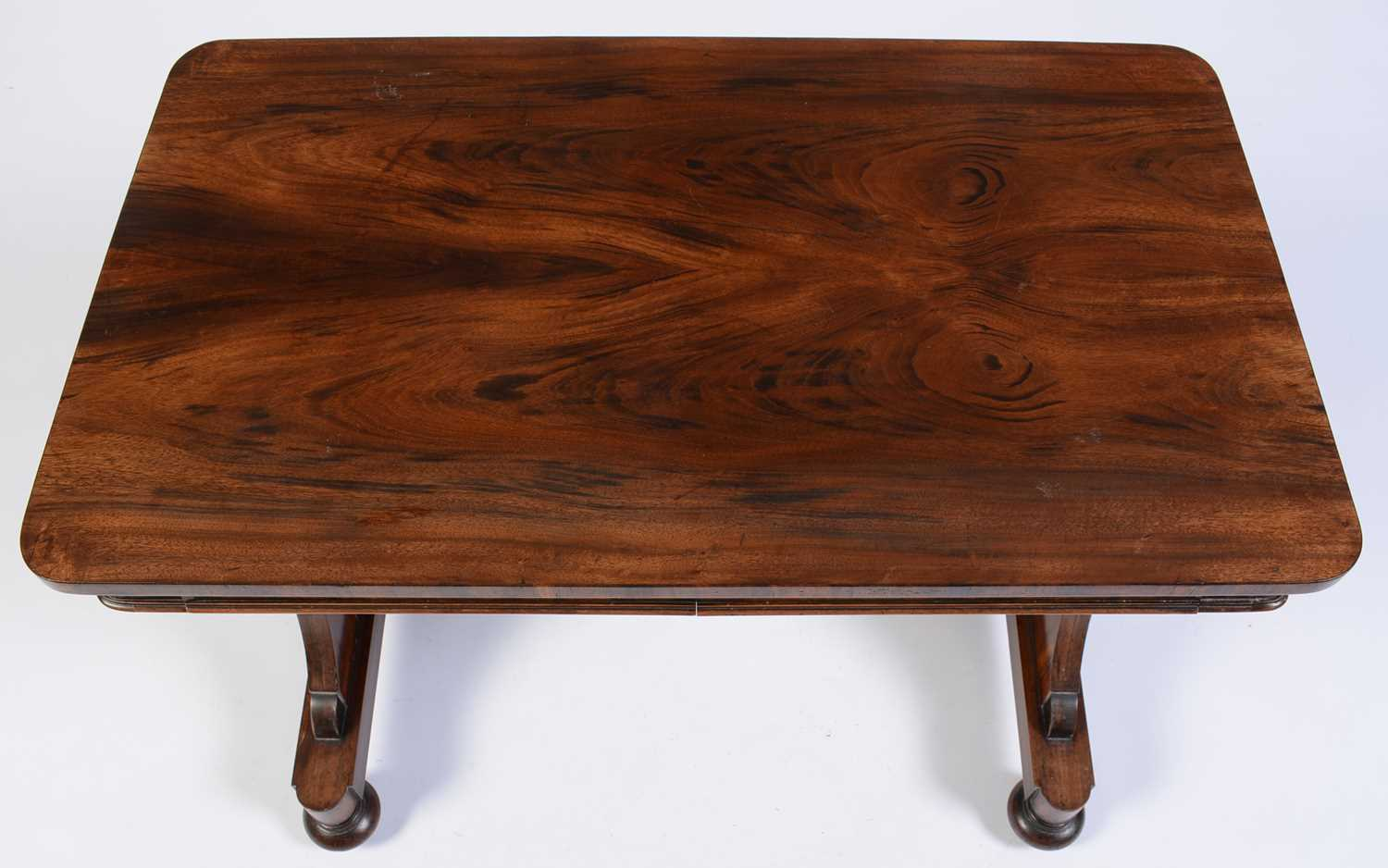Victorian rosewood library table - Image 3 of 3