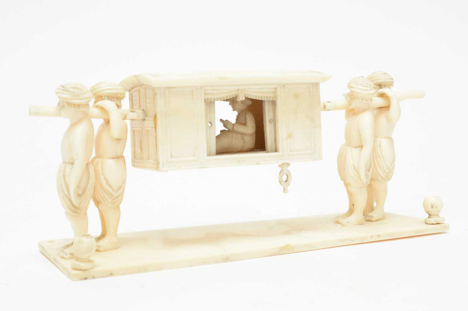 Three 19th Century Nepalese ivory processional groups - Image 5 of 7