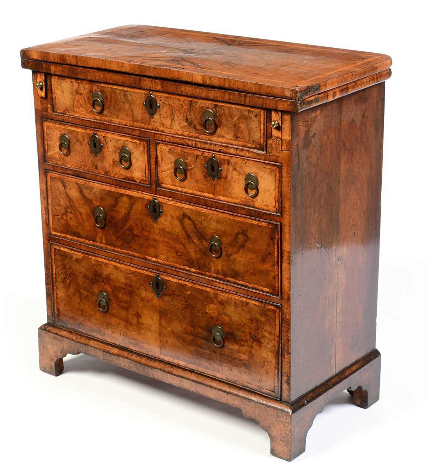 Early 18th Century walnut bachelors chest