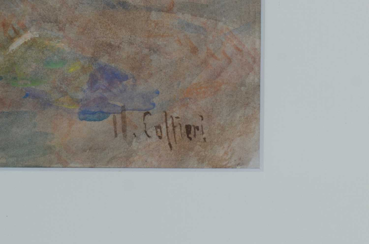 Hector Caffieri - watercolour. - Image 5 of 5