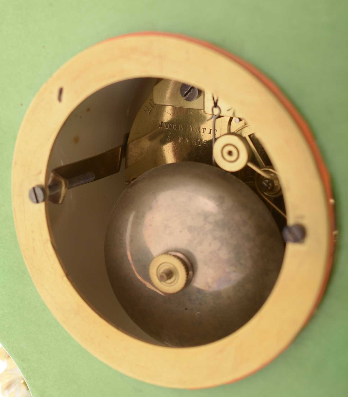 Jacob Petit porcelain mantel clock and stand - Image 7 of 20