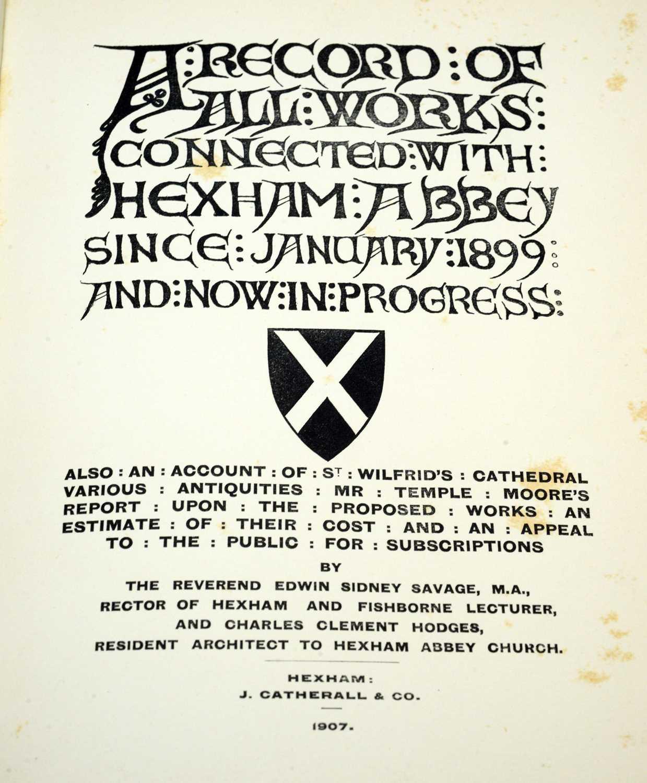 Books of Hexham interest - Image 4 of 5