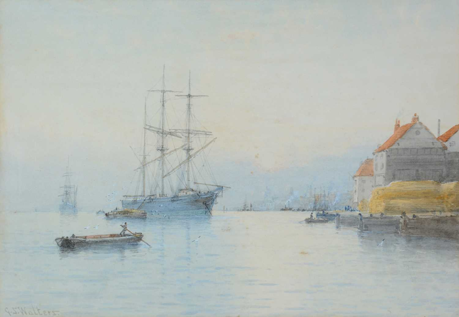 George Stanfield Walters - watercolour. - Image 3 of 5
