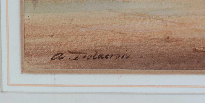 Auguste Delacroix - watercolour - Image 2 of 4