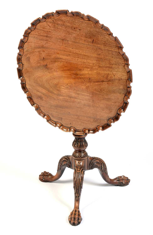 19th Century mahogany tripod table - Image 2 of 11