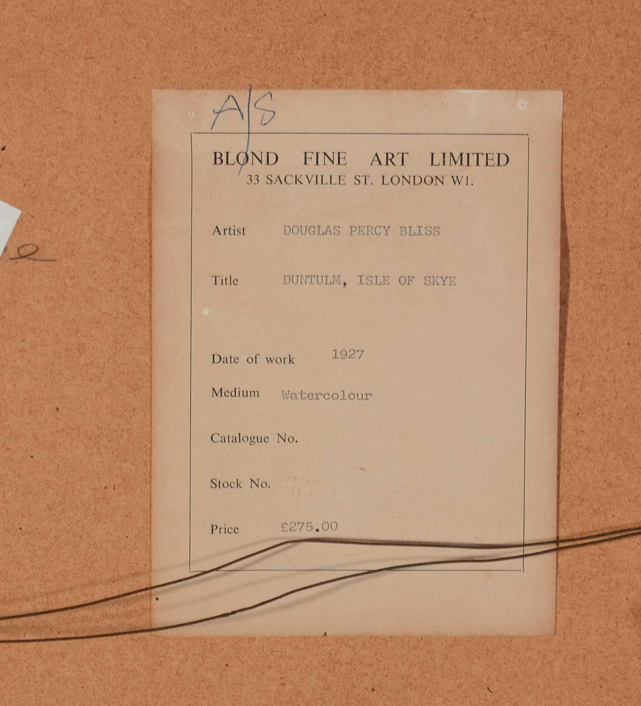 Douglas Percy Bliss - watercolour - Image 5 of 5