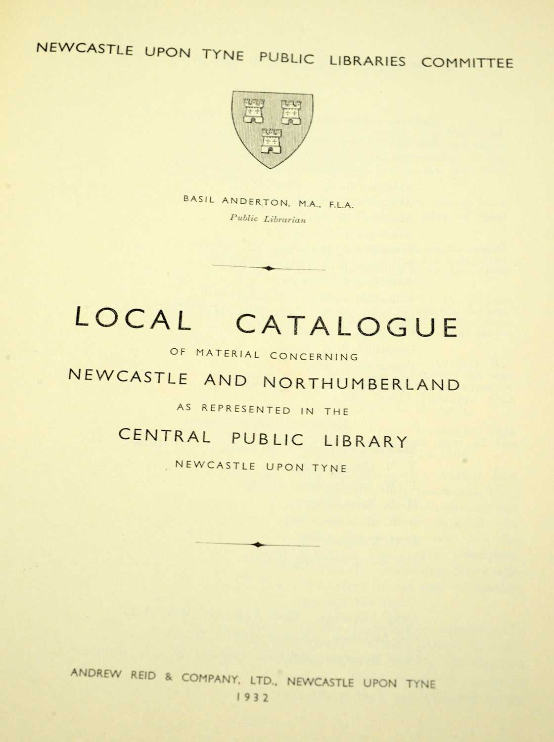 Newcastle upon Tyne Public Libraries Committee. - Image 2 of 2