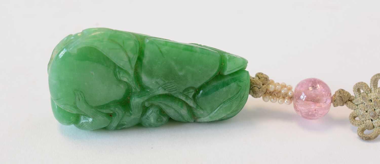 Chinese turquoise figure; jadeite pendant, hardstone cup - Image 22 of 27
