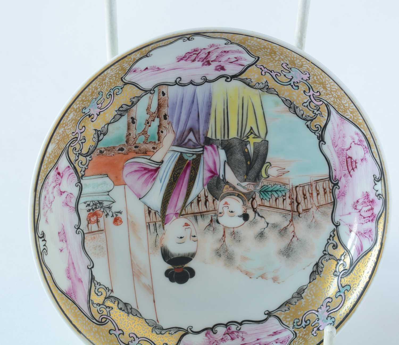 Yongzheng Famille rose saucer. - Image 10 of 15
