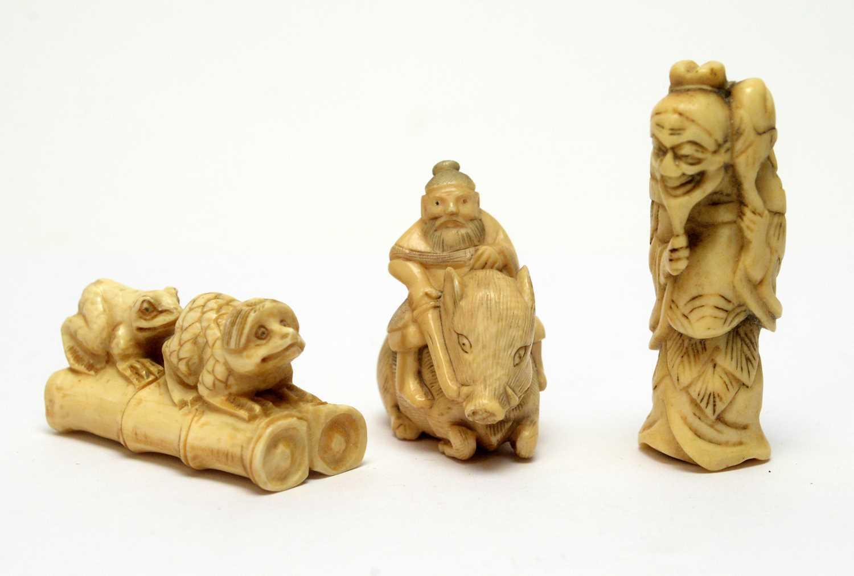 Three Japanese Netsukes