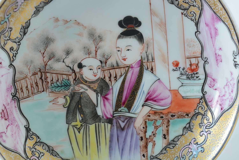 Yongzheng Famille rose saucer. - Image 7 of 15