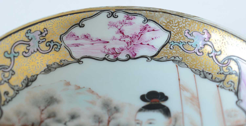Yongzheng Famille rose saucer. - Image 8 of 15