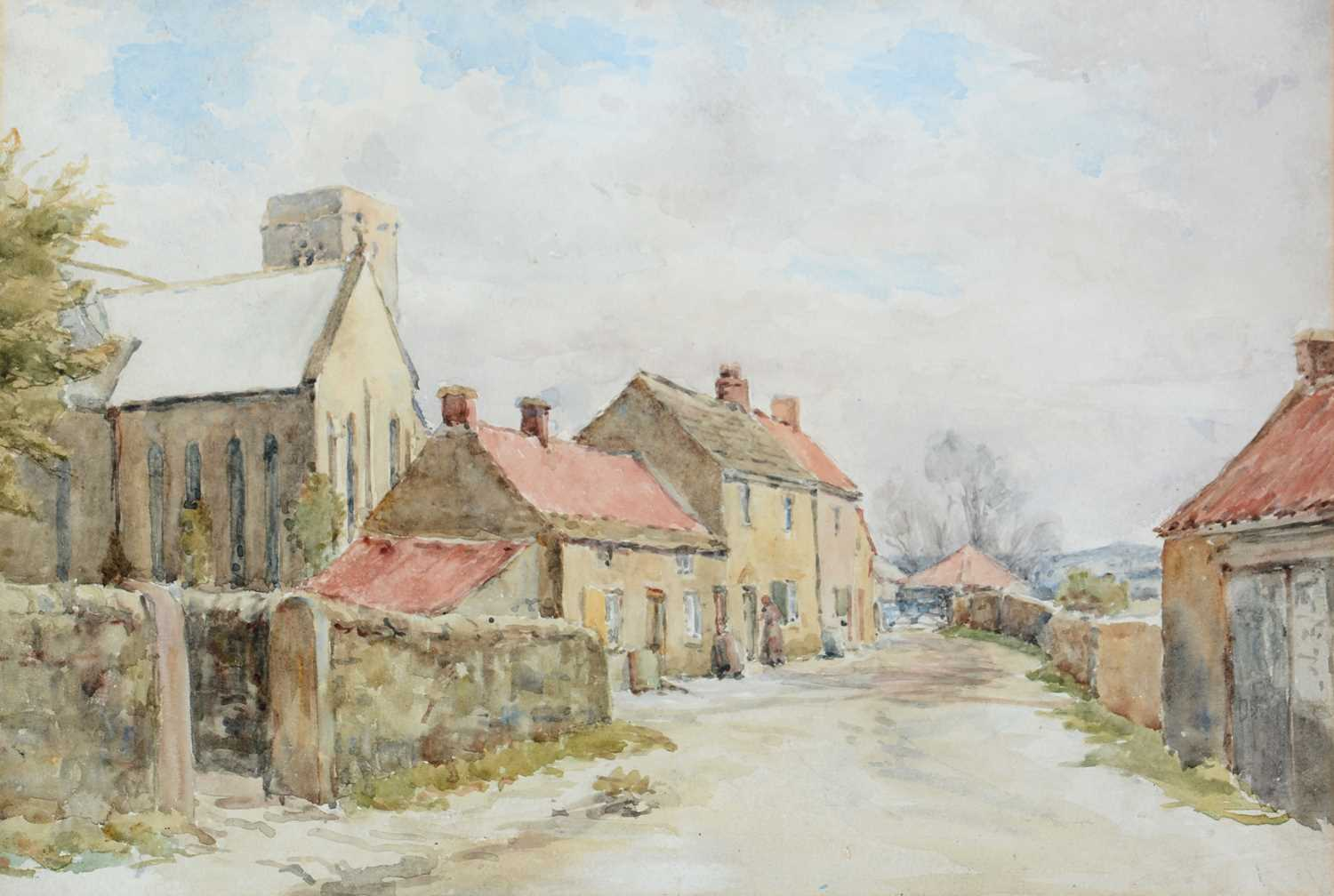 Northern School - watercolour. - Image 3 of 3