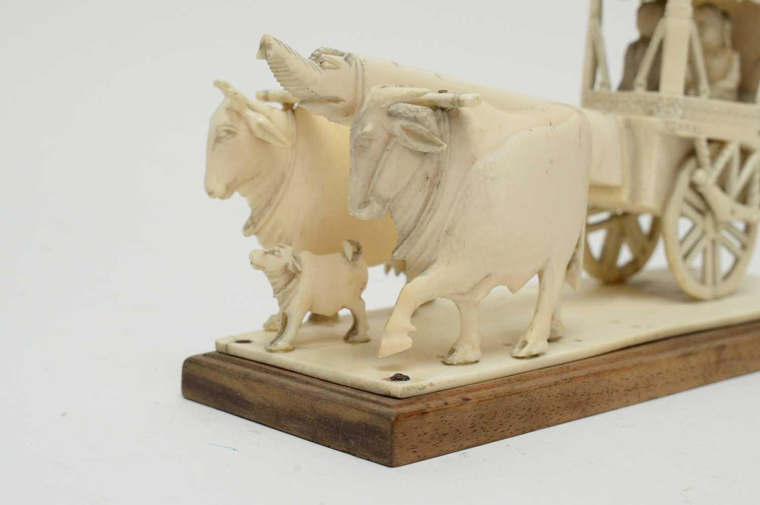 Three 19th Century Nepalese ivory processional groups - Image 3 of 7